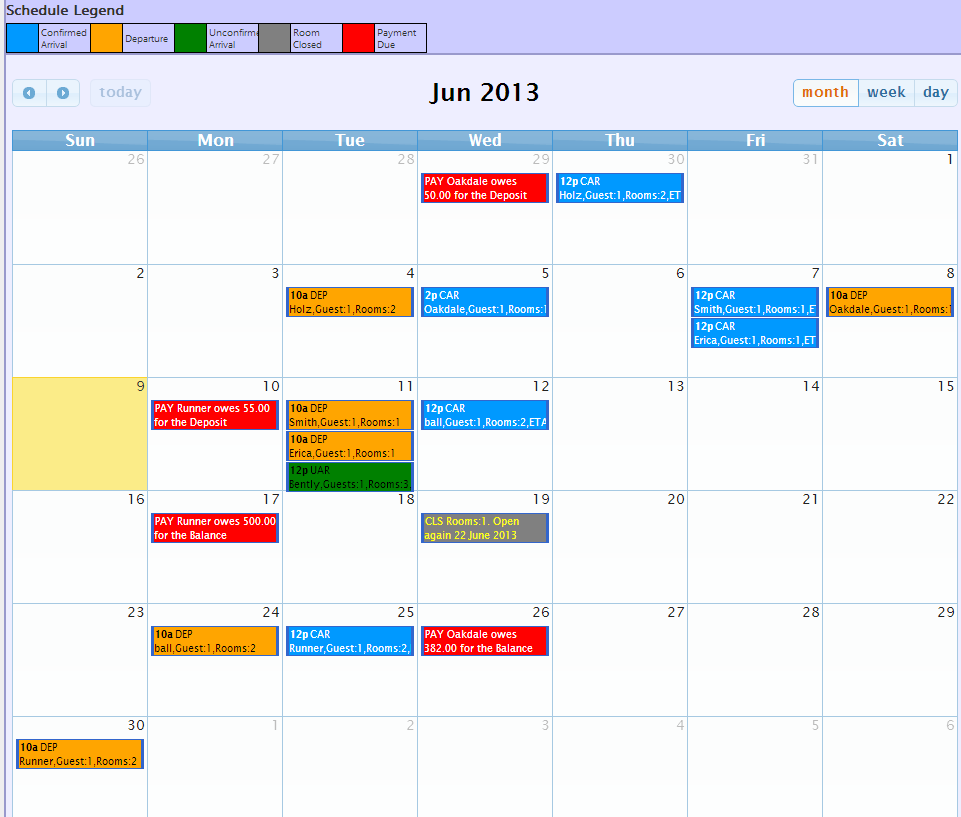 Calander screenshot